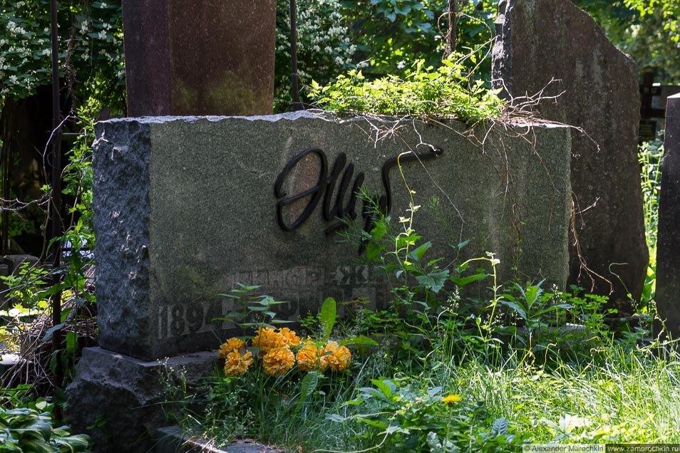 Могила Эсфирь Шуб на Новодевичьем кладбище