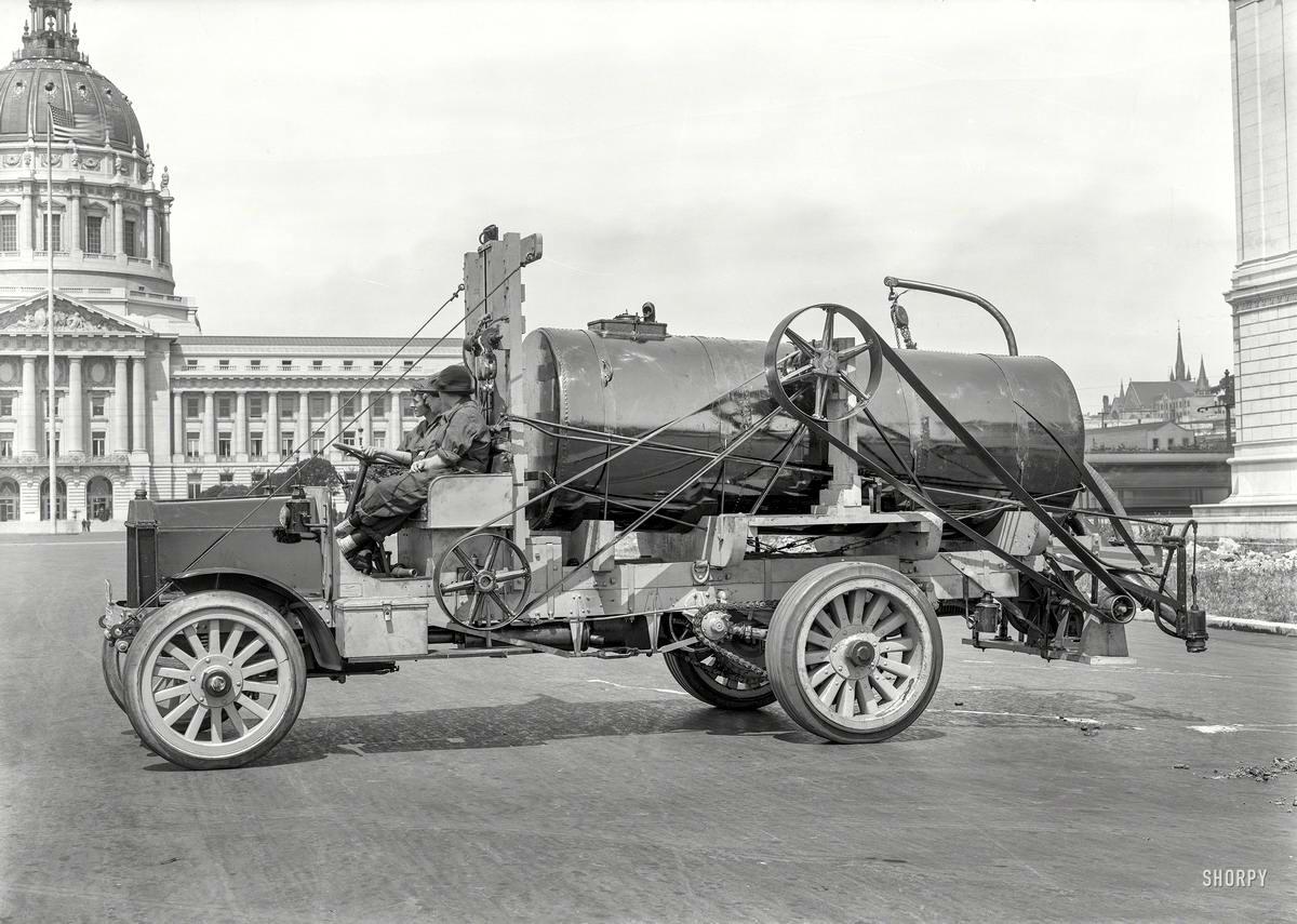 Специализированные транспортные средства начала 20-го века на снимках американских фотографов (0)