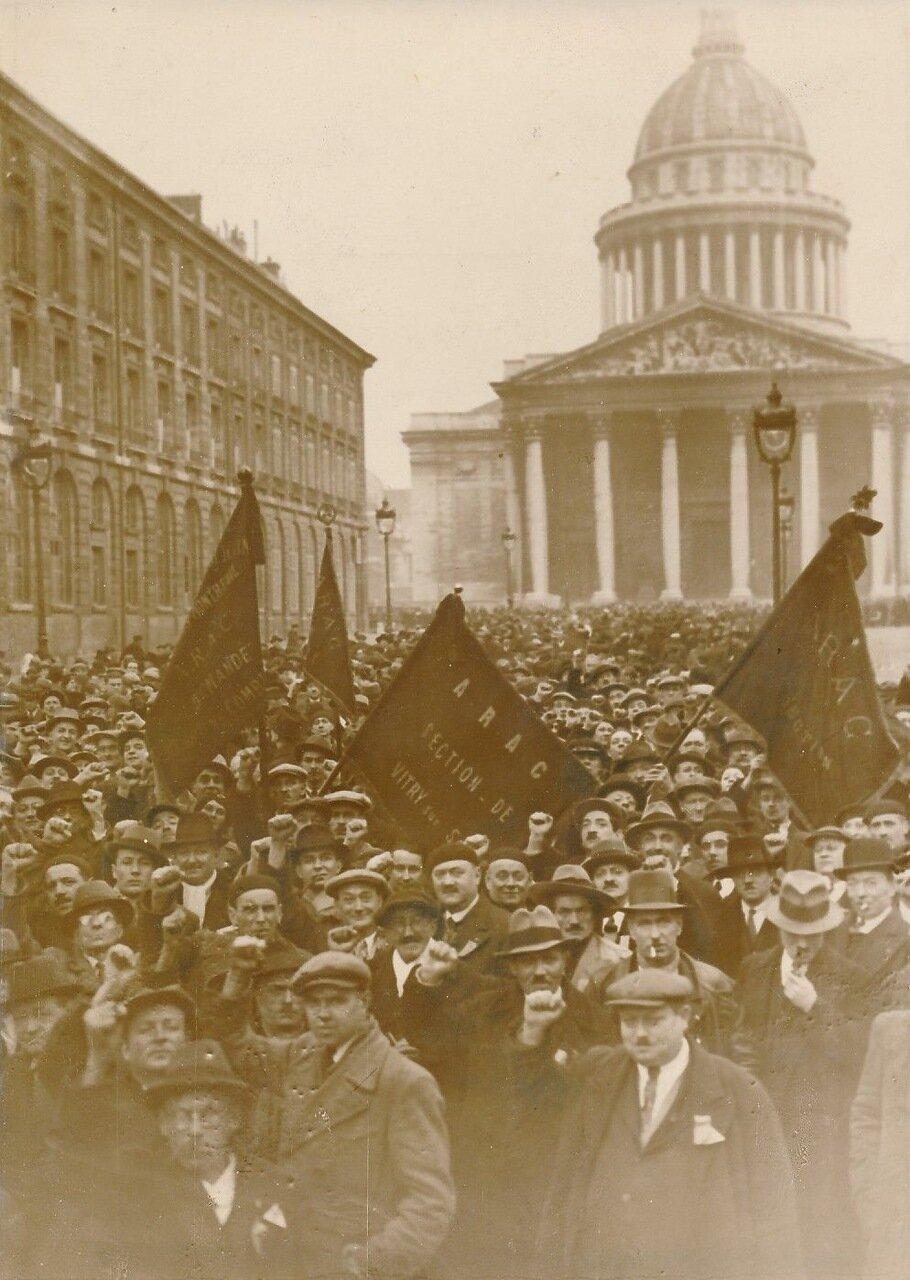 1936. Демонстрация возле Пантеона