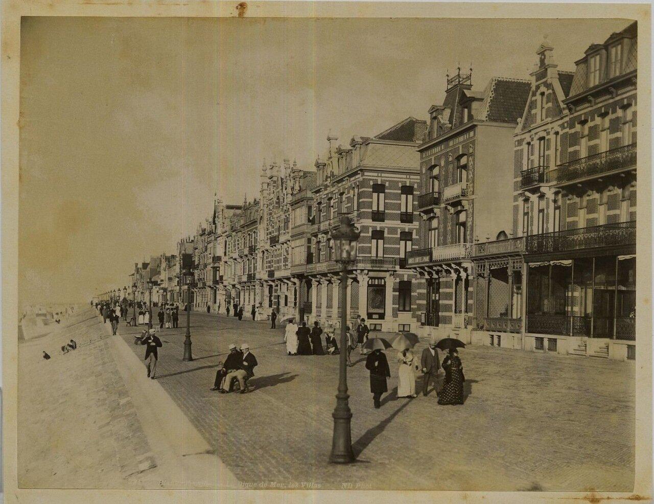 Бланкенберге. Дома на Ла Диг-де-Мер. 1875