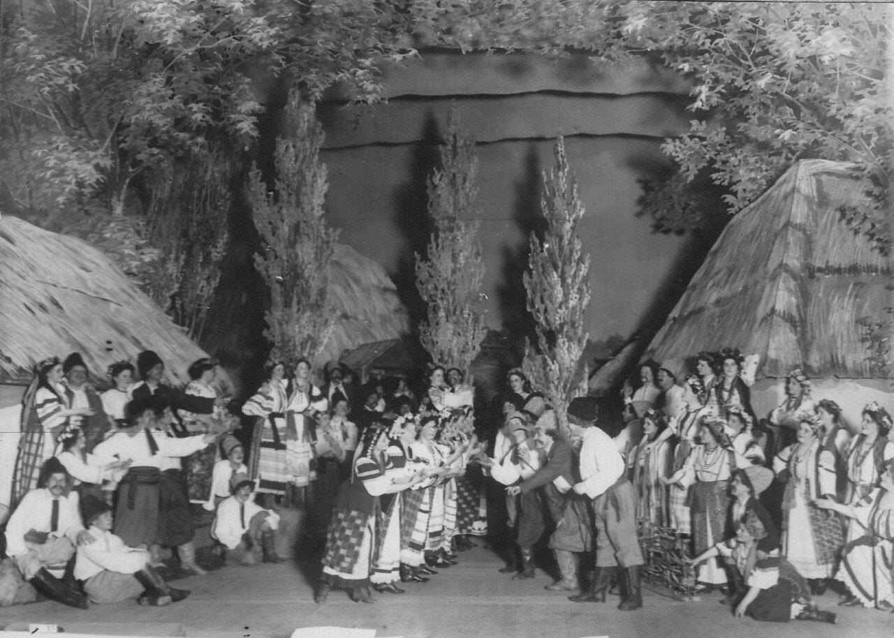 09. Заключительная сцена 1-го действия оперы А.Н. Римского-Корсакова «Майская ночь». 1910