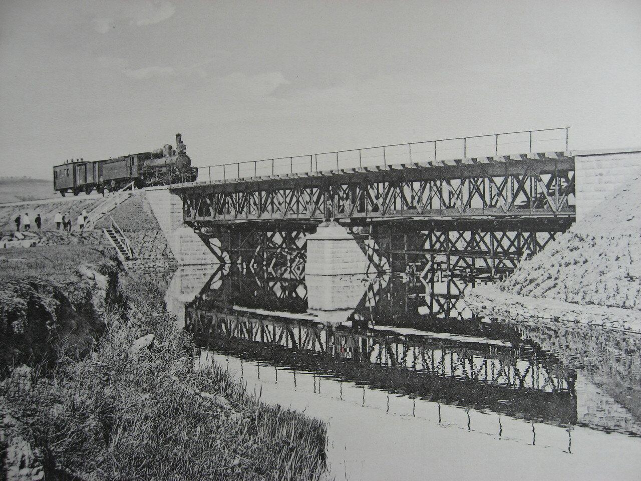 06. 2283 верста. Мост через р. Иланку. Строительный период 1910