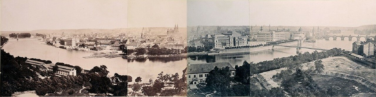 1880. Панорама Праги