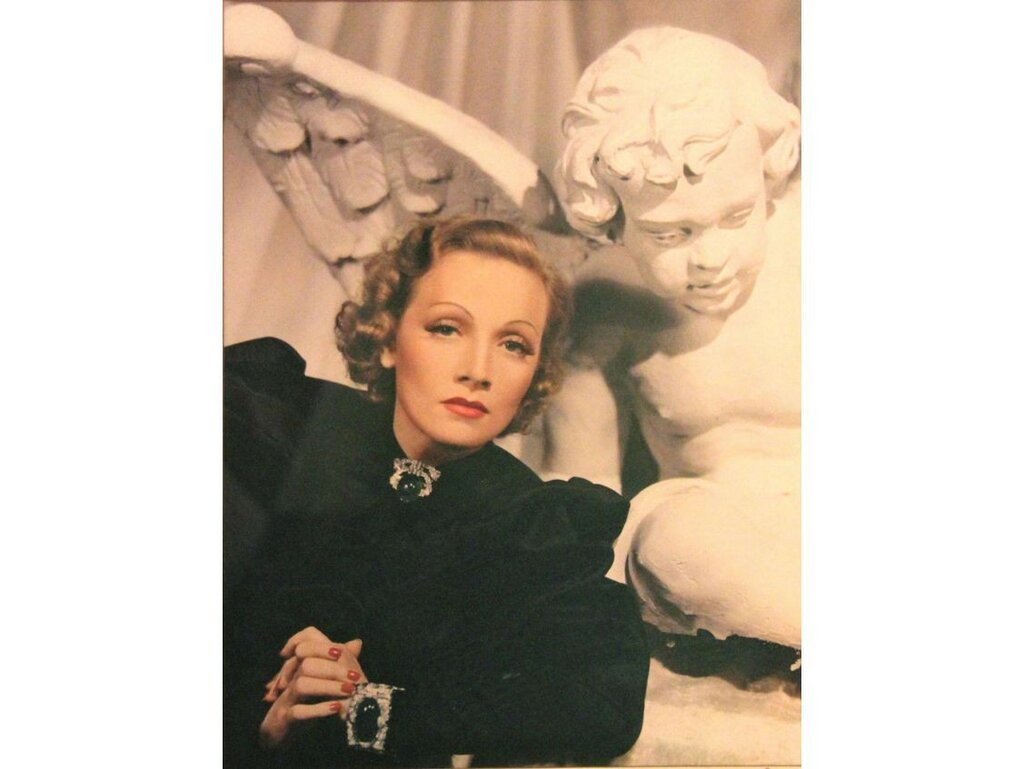 1939c Marlene Dietrich by Jack Shallit & Barker Davis; Important Eastman Kodak Tri-Color Camera.jpg
