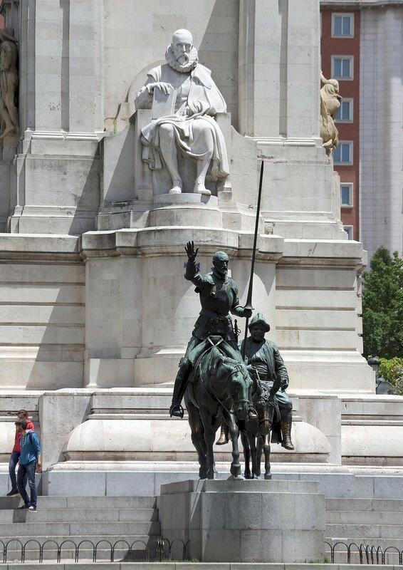 Мадрид. Площадь Испании. Памятник Сервантесу