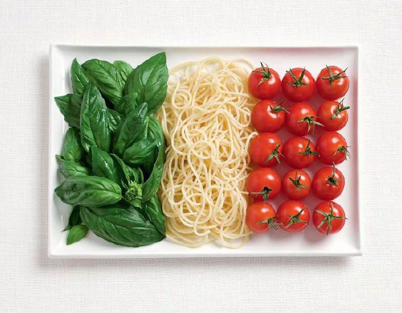 Флаги стран из продуктов питания
