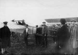 Аэроплан Блерио на старте