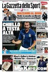 Журнал La Gazzetta dello Sport  (11 Ottobre 2014)