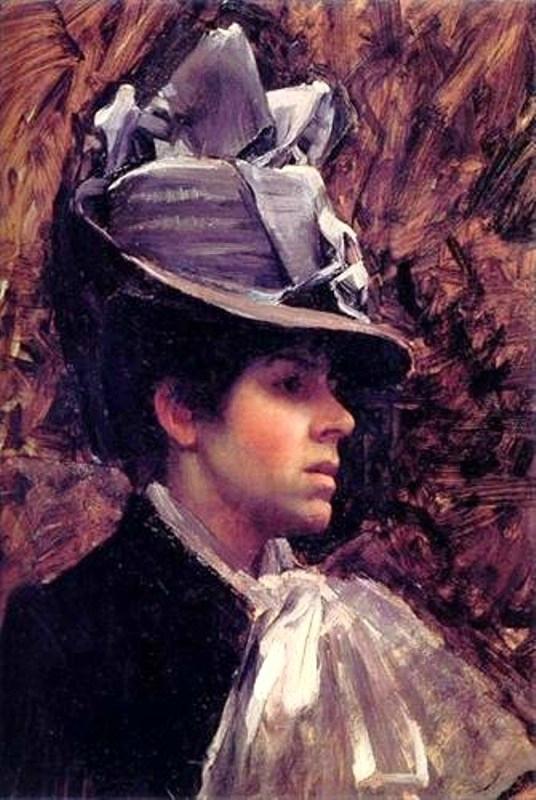 John William Waterhouse (British Painter, 1849-1917). Esther Kenworthy, Artist's Wife c 1885.jpg