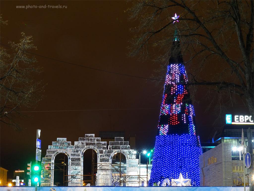 Фотография 16. Ледяной городок-2014 готовится к открытию. Учимся фотографировать на Sony Cyber Shot. 100, 14.94 (84), 8, 5