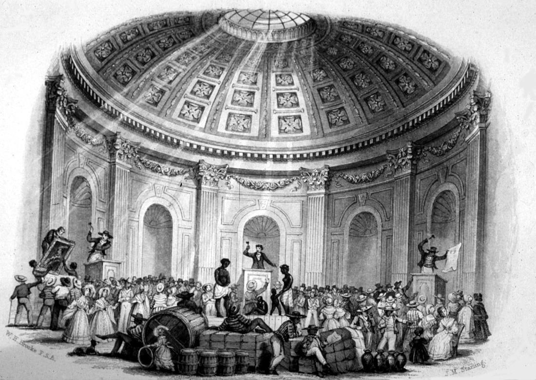 Аукцион по продаже рабов в Новом Орлеане (1839 год)