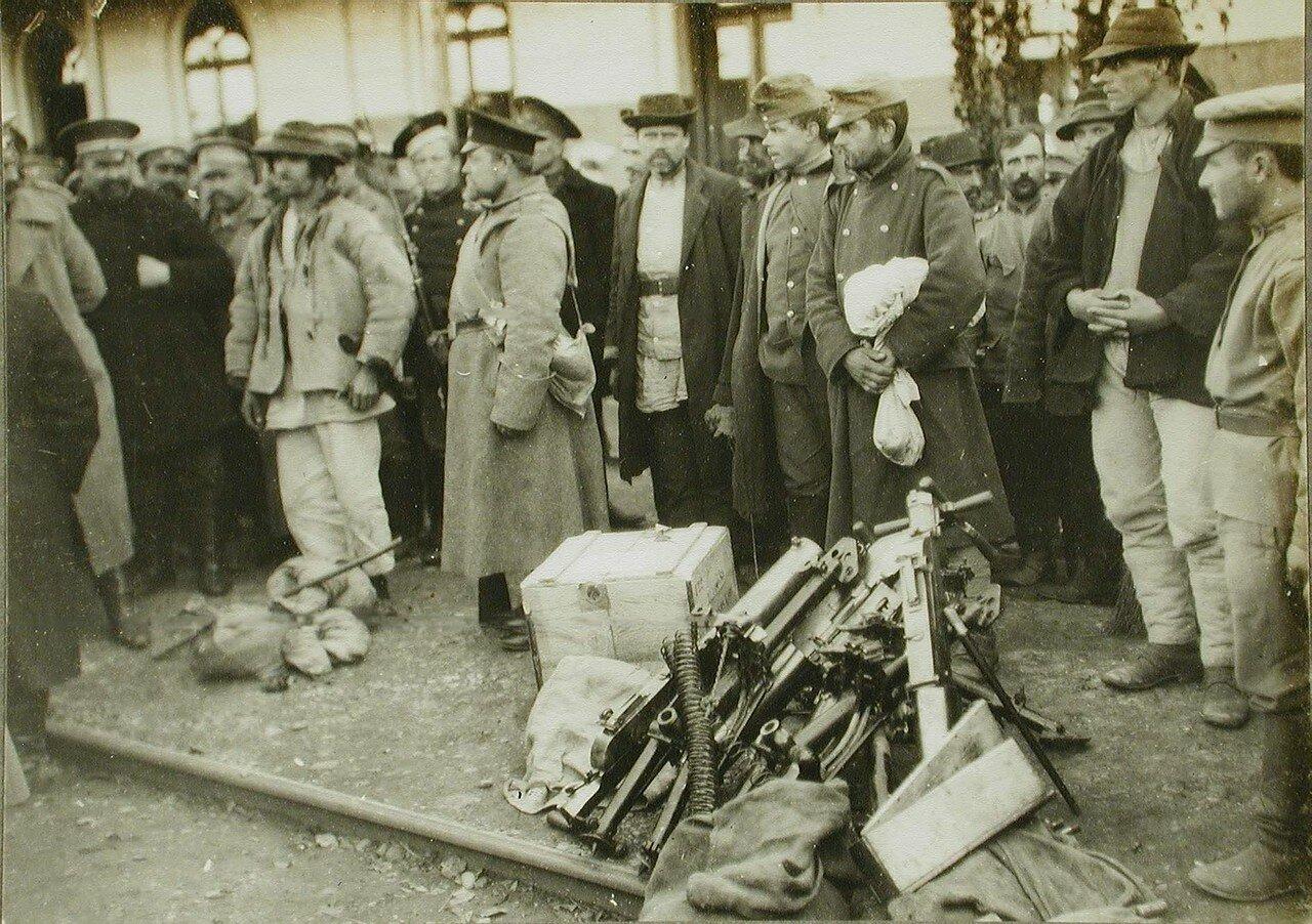 30. Пулемет, захваченный у австрийцев при наступлении русских частей