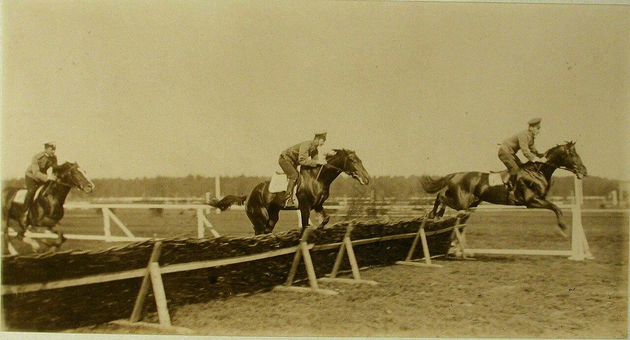 48. Участники джентльменских скачек во время соревнований на ипподроме