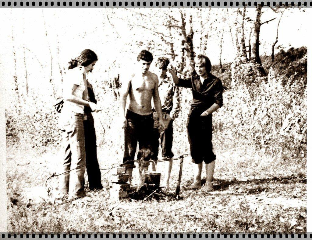 1978. Иртыш, Студенты Политехнического на рыбалке