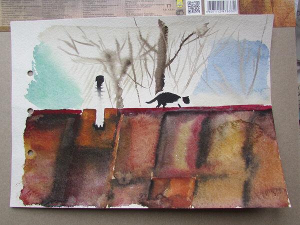 кот на ржавой крыше