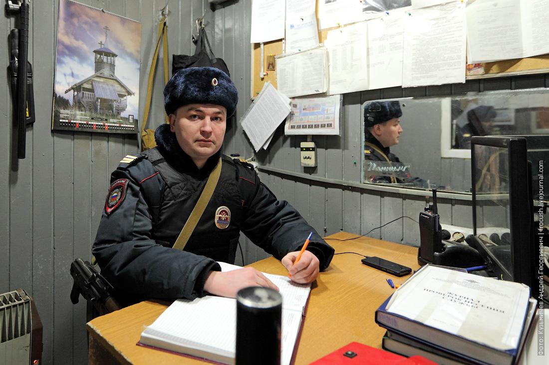 постовой полицейский КПП ОМВД Преображенское