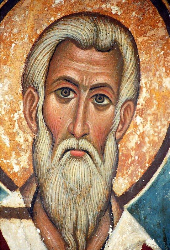 Святой Апостол Иаков, брат Господень. Фреска XV века в монастыре Св. Екатерины на Синае.
