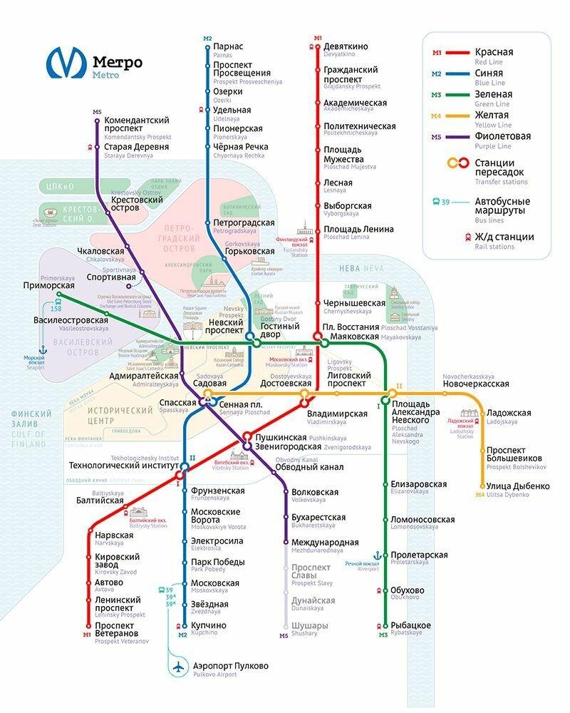 Новая схема петербургского метро фото 959