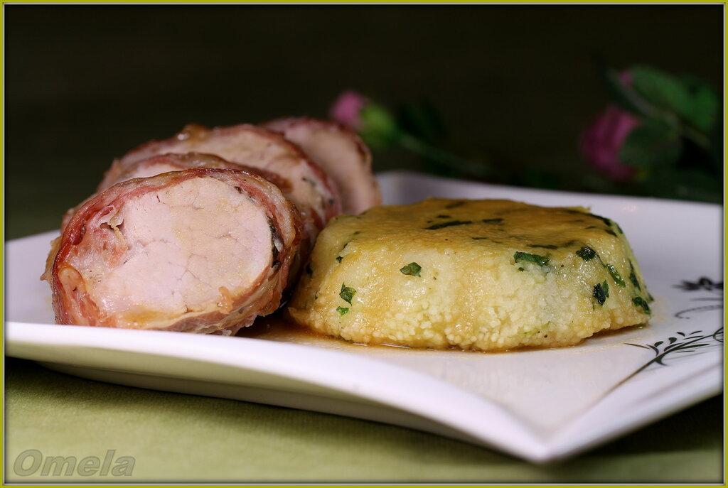 Свинина с запеченным кускусом