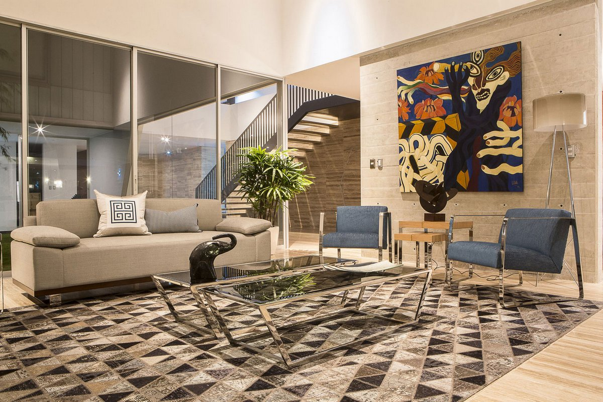Riofrio+Rodrigo Arquitectos, особняки в Перу, частные дома в Чоррильос, необычные частные дома, роскошная резиденция в Перу, панорамное остекление фото