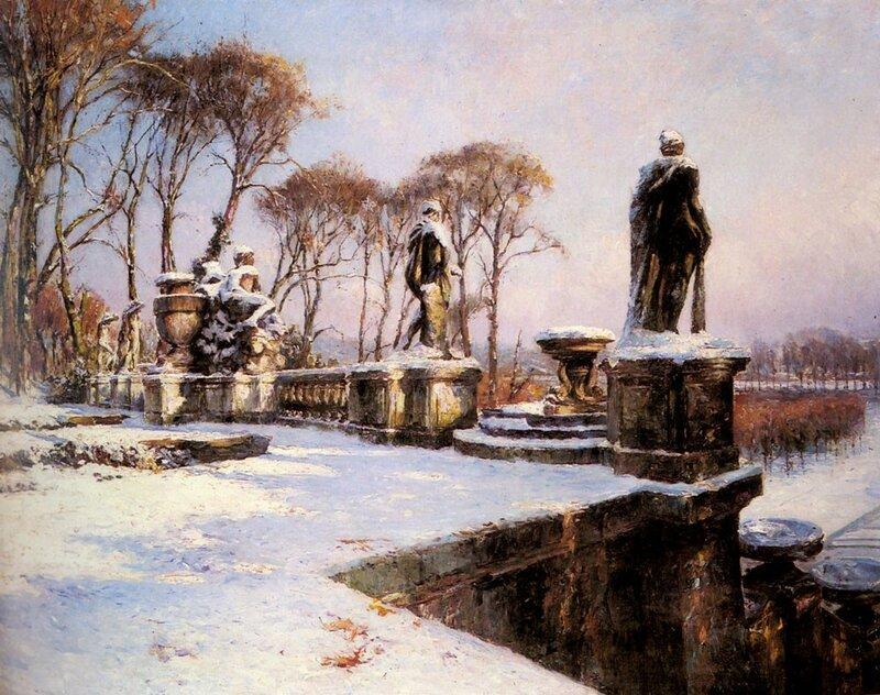Фрекюнез Поль Леон, Парк Сен-Клу в снегу
