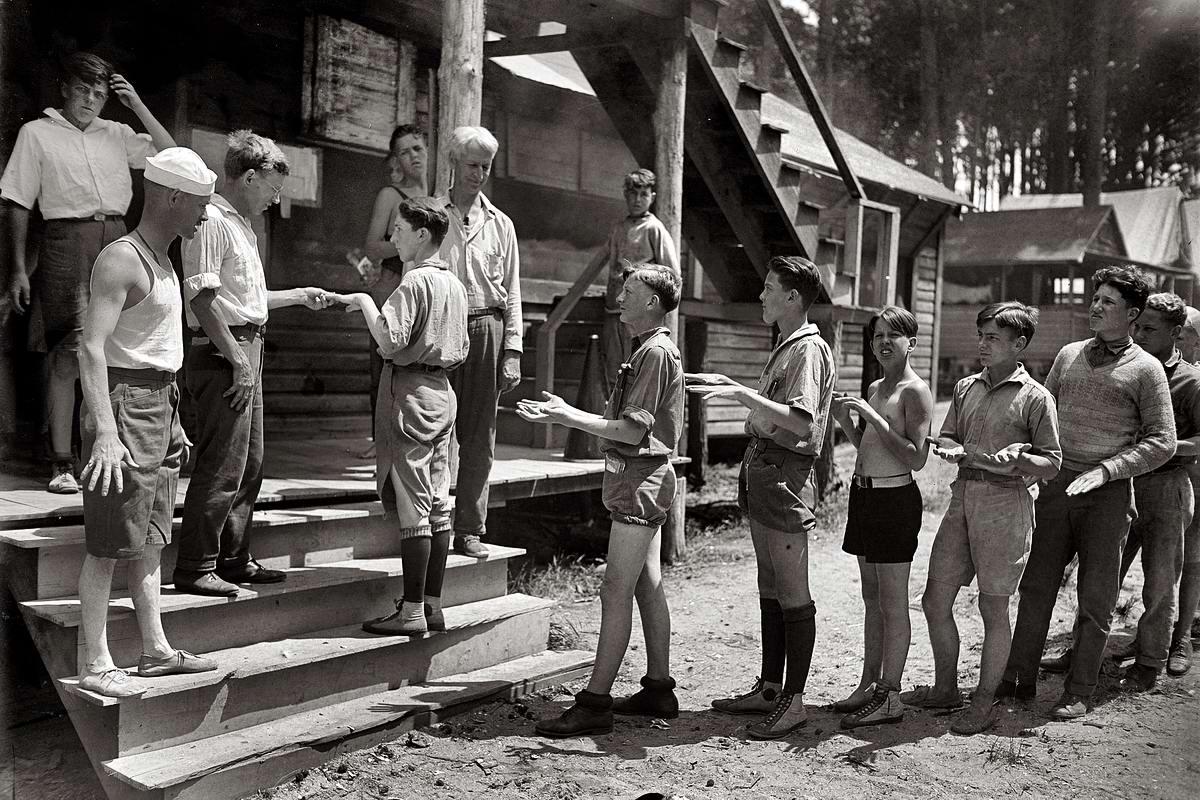 Американские бойскауты начала 20-го века на снимках фотографов (25)