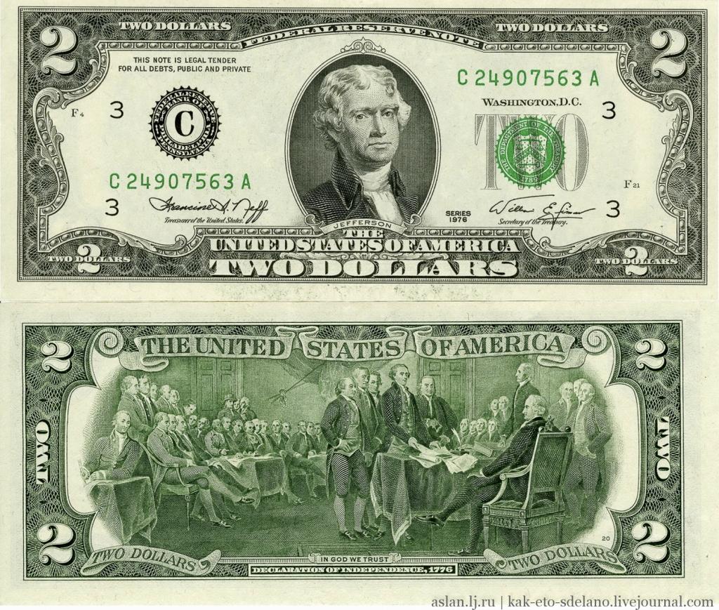 Как производят доллары США