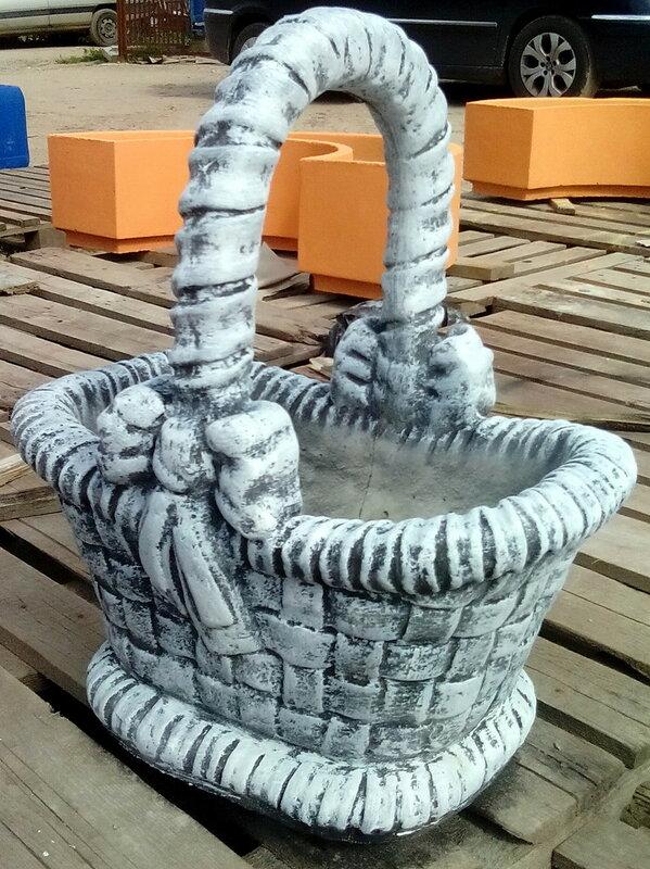 Садовая фигура-ваза Корзинка 75 x 55 x 45 см