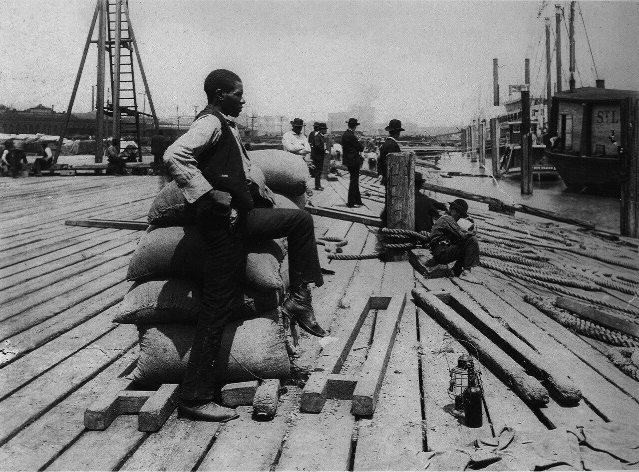 1885. Негр докер в новом орлеане