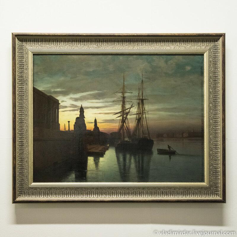 Вид на Академию Художеств с Невы. Лев Лагорио. 1880 год.