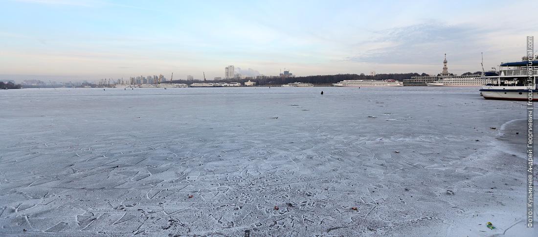 Химкинское водохранилище конец ноября 2014 года