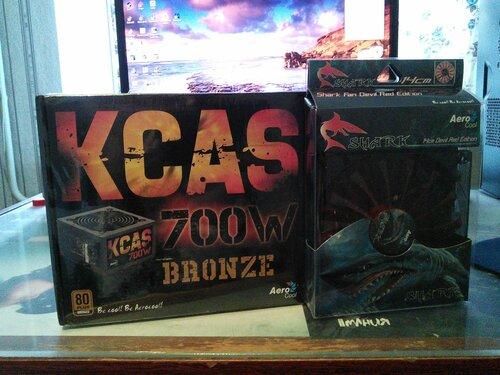 Блок питания Aerocool KCAS и вентилятор Aerocool Shark Fan