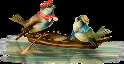 птицы в лодке