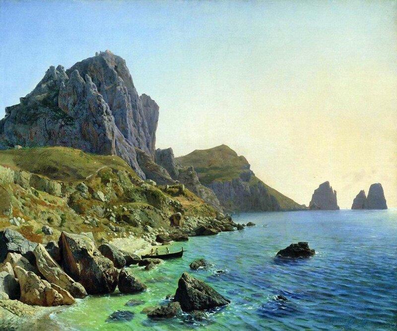 На острове Капри. Береговые утесы. 1859.jpg