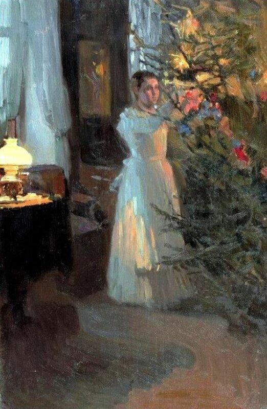 Алексей Михайлович Корин - Рождественская ёлка, 1910 г.