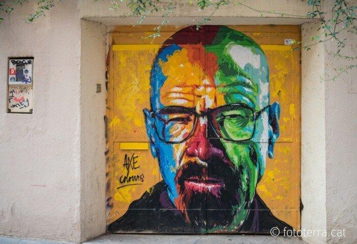 Уличный художник Axe Colours.