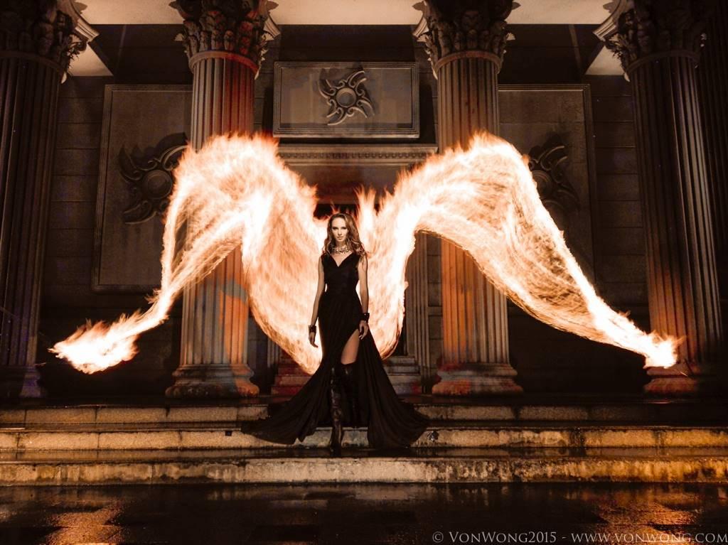 Огненные крылья без фотошопа