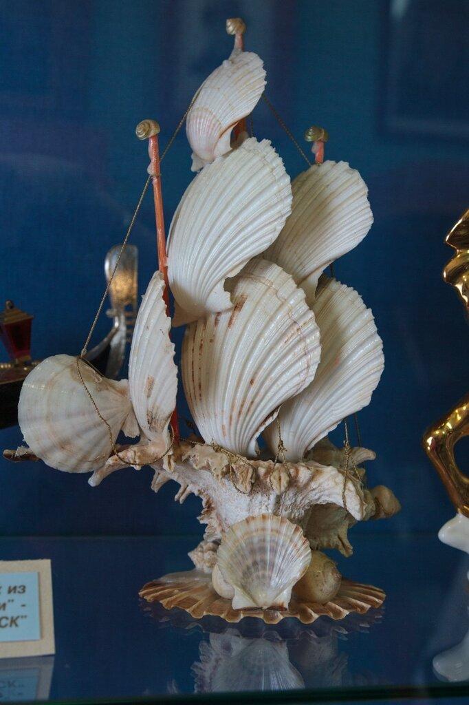 Парусник из ракушек, музей Чкалова