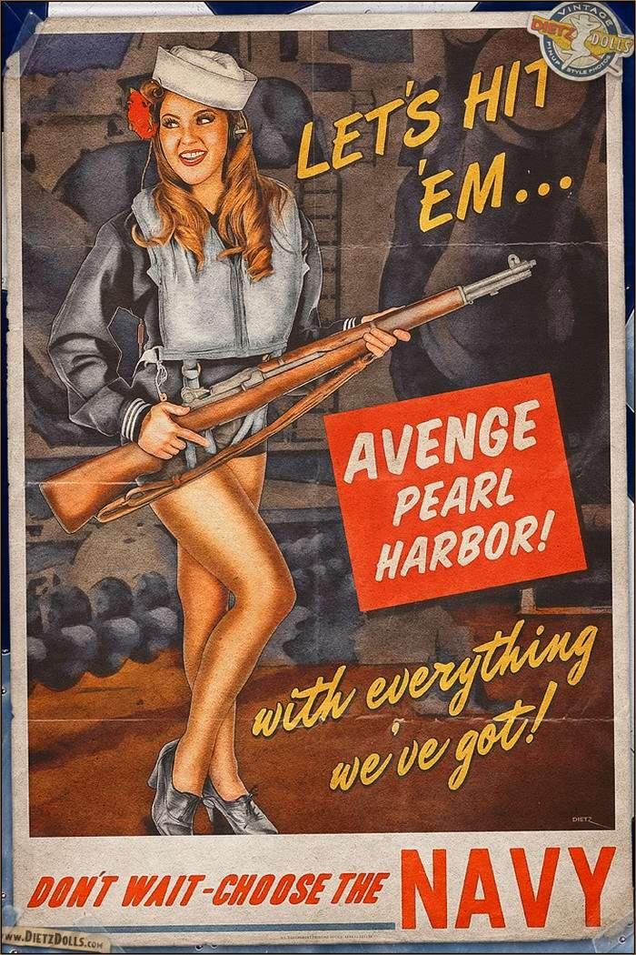 Армейский pin-up в стиле 1940-х годов от американского художника Britt Dietz (12)