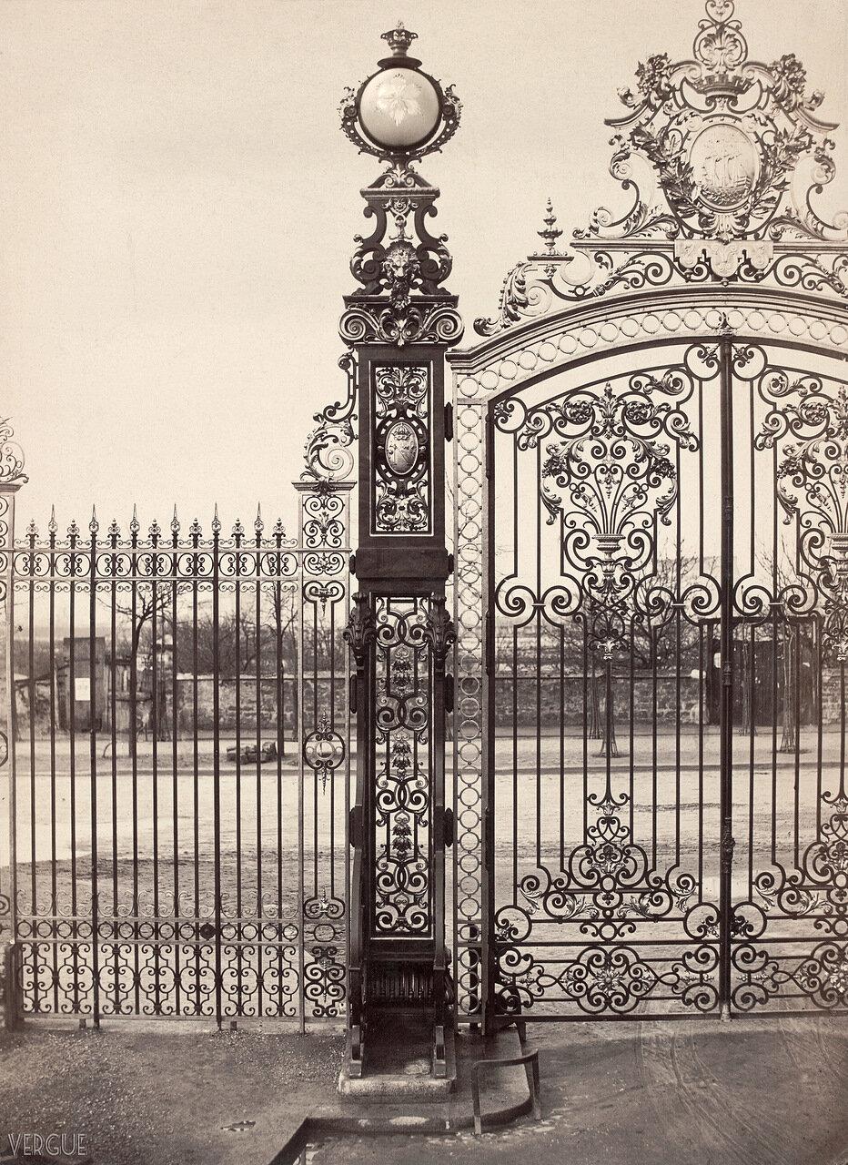 Газовый фонарь.  Парк Монсо, 1864