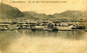 Вид Скобелевской площади с моря