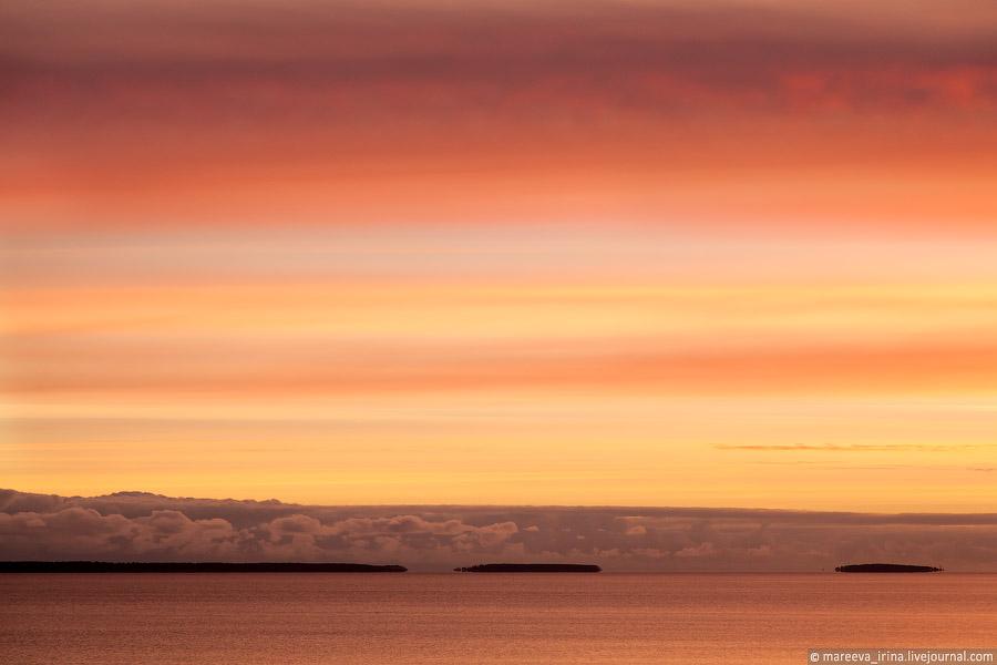Рассвет на онежском озере фото