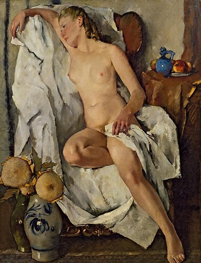 Обнажённая. — Отдых., Антон Лутц (1894-1992).