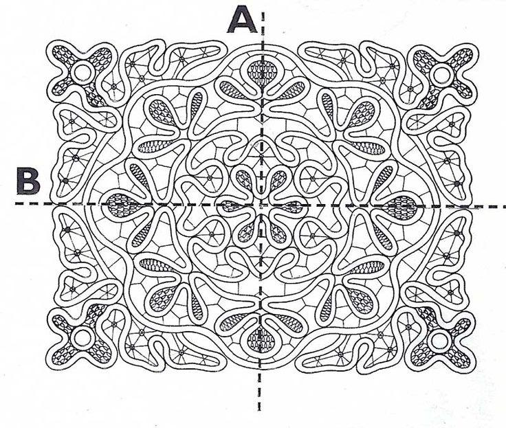 Вязание крючком румынского кружева 73