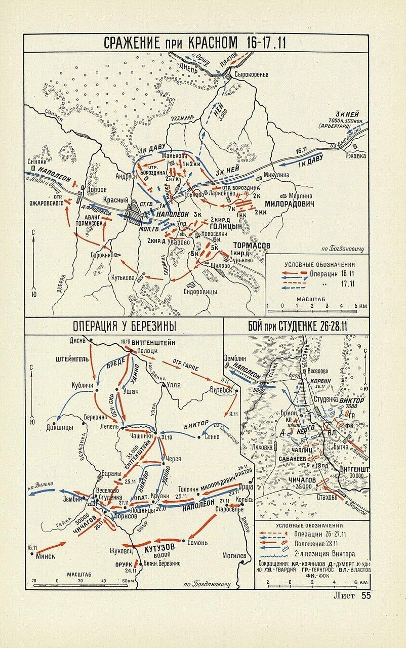 Три сражения в ноябре 1812 года