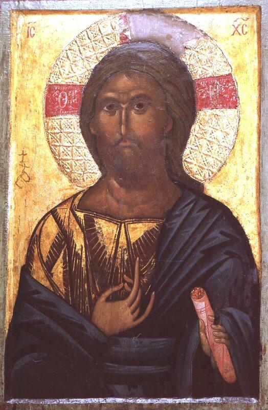 Христос Пантократор. Икона XIII века. Галерея икон в Охриде.