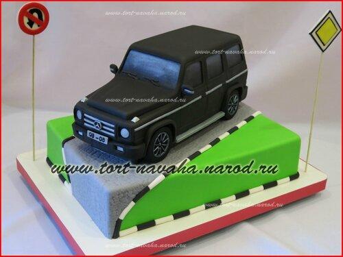 Торт в форме гелендвагена фото