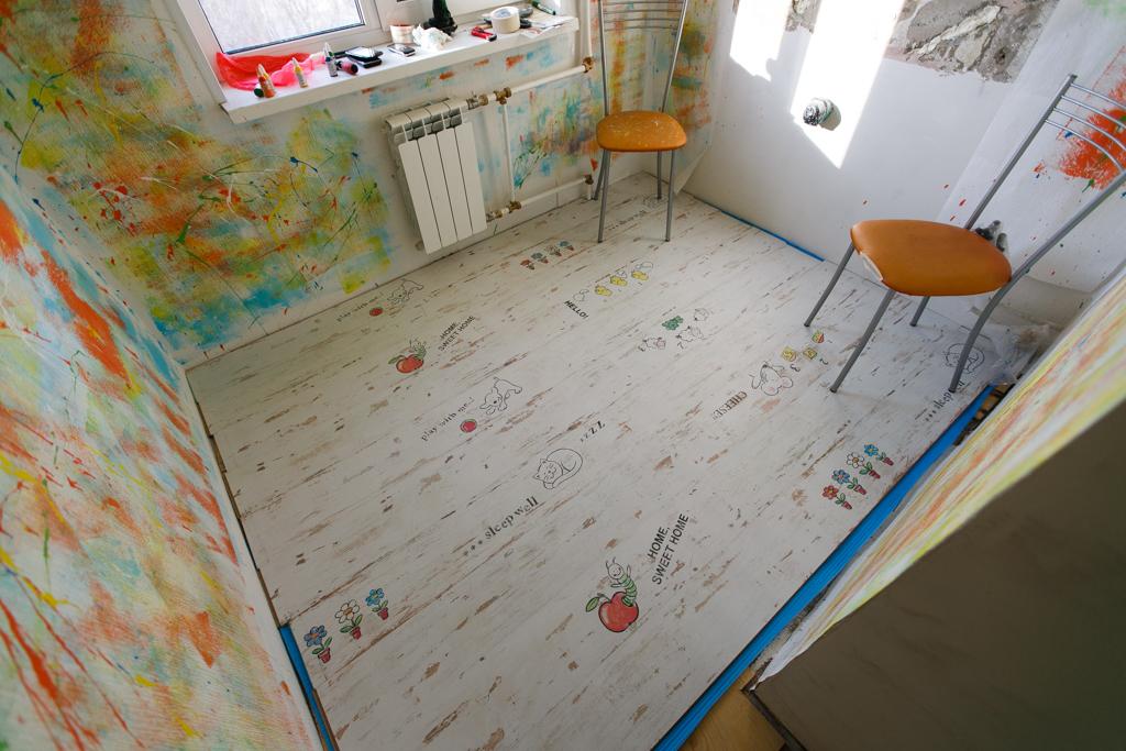 ламинат в детскую комнату фото