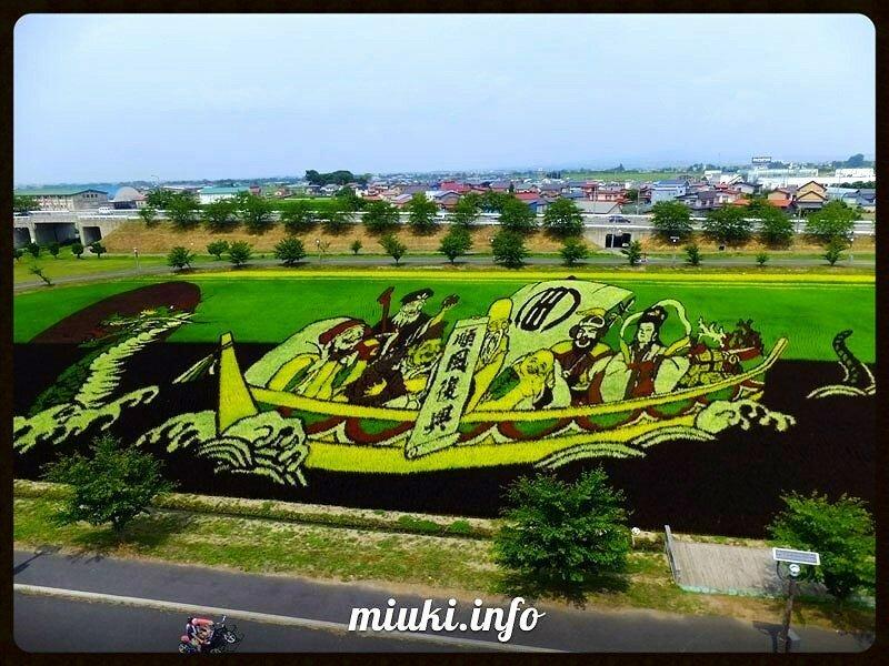 Искусство тамбо - картины на рисовых полях Японии