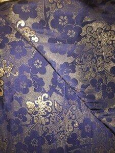 Парча синяя с золотыми нитями двухсторонняя 4м